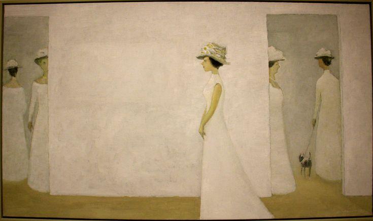 Jean-Paul Lemieux, The Ladies' Visit, Oil on canvas, 1971