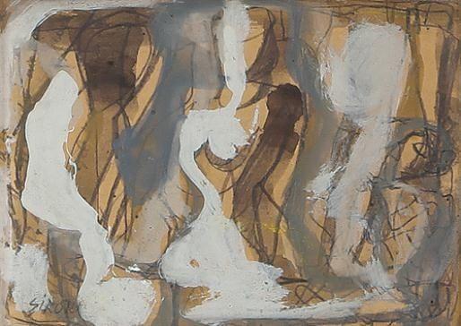 Composizione con figure, 14.3x20cm - Mario Sironi 1940