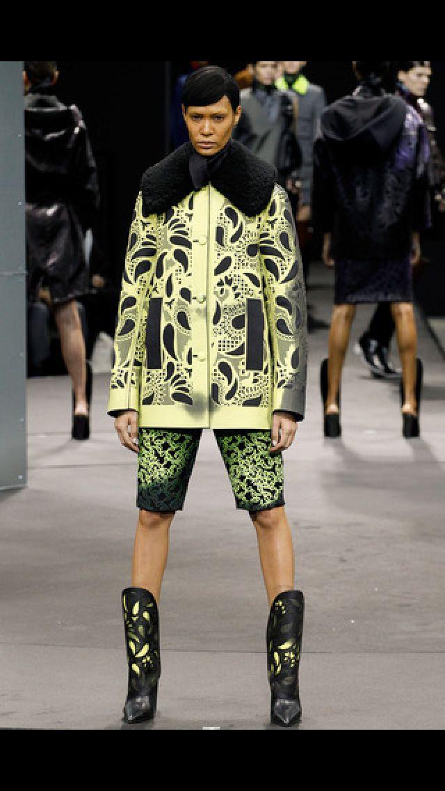 Amarillo y verde en Alexander Wang