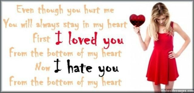 I Hate You Poems: 12 Best I Hate You: Messages, Quotes And Poems