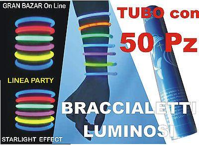 BRACCIALETTI LUMINOSI GLOW 50 Pz. STARLIGHT FESTA PARTY FLUORESCENTI DJ in Abbigliamento e accessori, Carnevale e teatro, Accessori | eBay