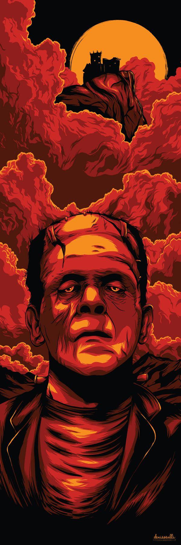 Part of weekly vector inspiration #96. Frankenstein by Denis O'Sullivan