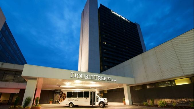 DoubleTree by Hilton Hotel Bloomington - Minneapolis South, MN - Night Exterior with Shuttle