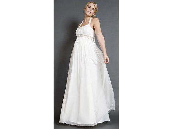 Vestido de novia para novia embarazada