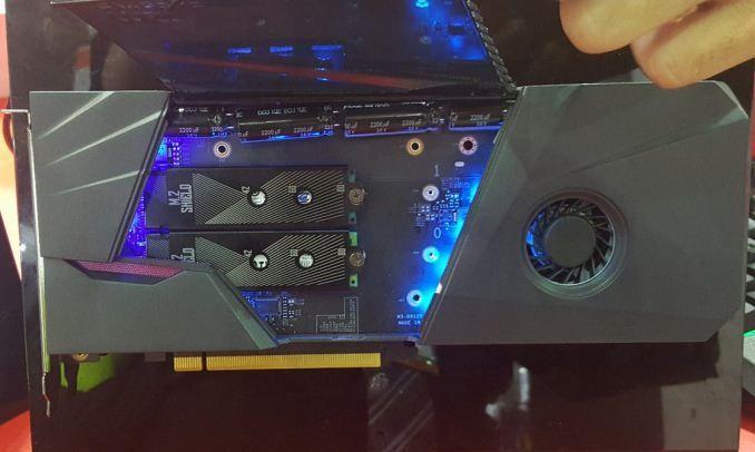 msi demos prototype hybrid storage card m.2 ssd - http://www.newsandroid.info/2017/06/05/msi-demos-prototype-hybrid-storage-card-m-2-2-5-sata-on-a-pcie-card/