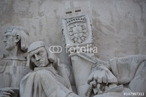 "Download the royalty-free photo ""Monument of the Discoveries, detail view, Lisbon, Portugal "" created by Ciaobucarest at the lowest price on Fotolia.com. Browse our cheap image bank online to find the perfect stock photo for your marketing projects!"