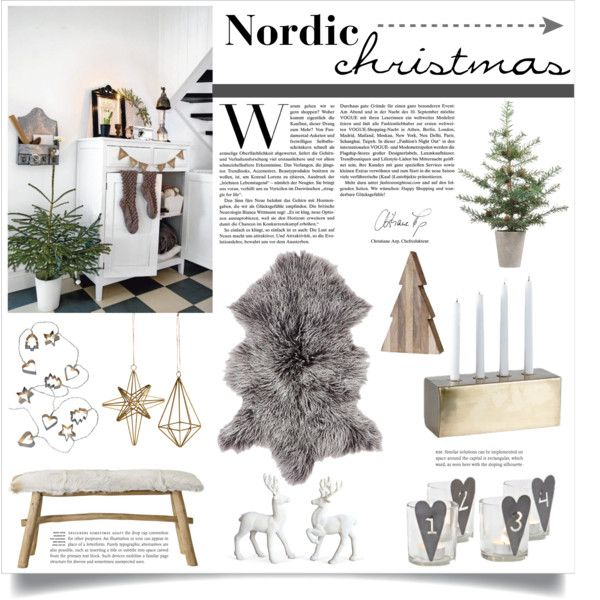 """Nordic Christmas"" by veronikasinterior on Polyvore"
