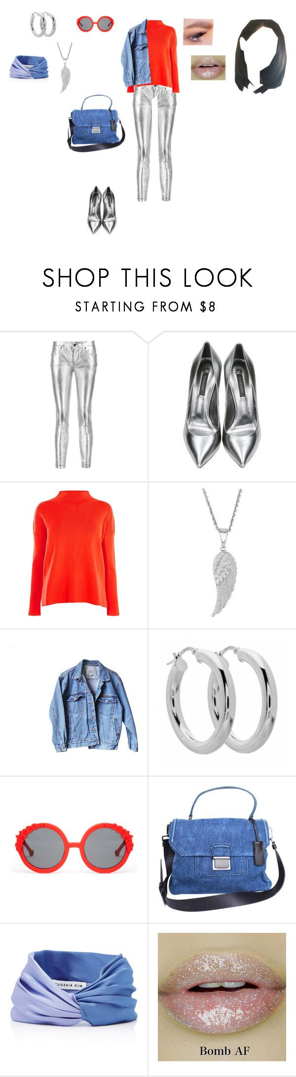 """Colourful outfit"" by helena94-1 on Polyvore featuring RtA, Casadei, Karen Millen, Levi's, Preen, Miu Miu, Eugenia Kim and polyvorefashion"
