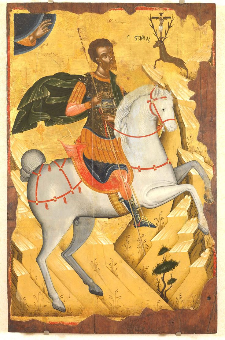 St Eustathios. early 16th c. Unknown Cretan painter. The Hellenic Institute for Byzantine and Post-Byzantine Studies in Venice (Istituto Ellenico di Venezia)