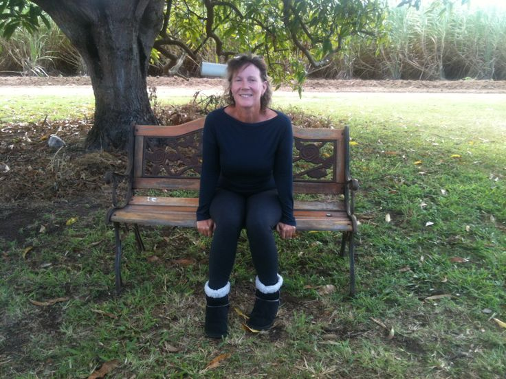 June 2014- me sitting on bench I am sanding then will Danish Oil..obviously unusually cold over here for June