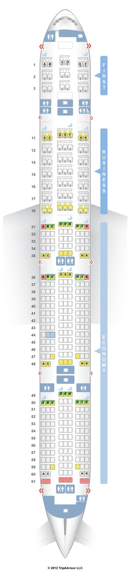 SeatGuru Seat Map Singapore Airlines Boeing 777-300 (773) V1