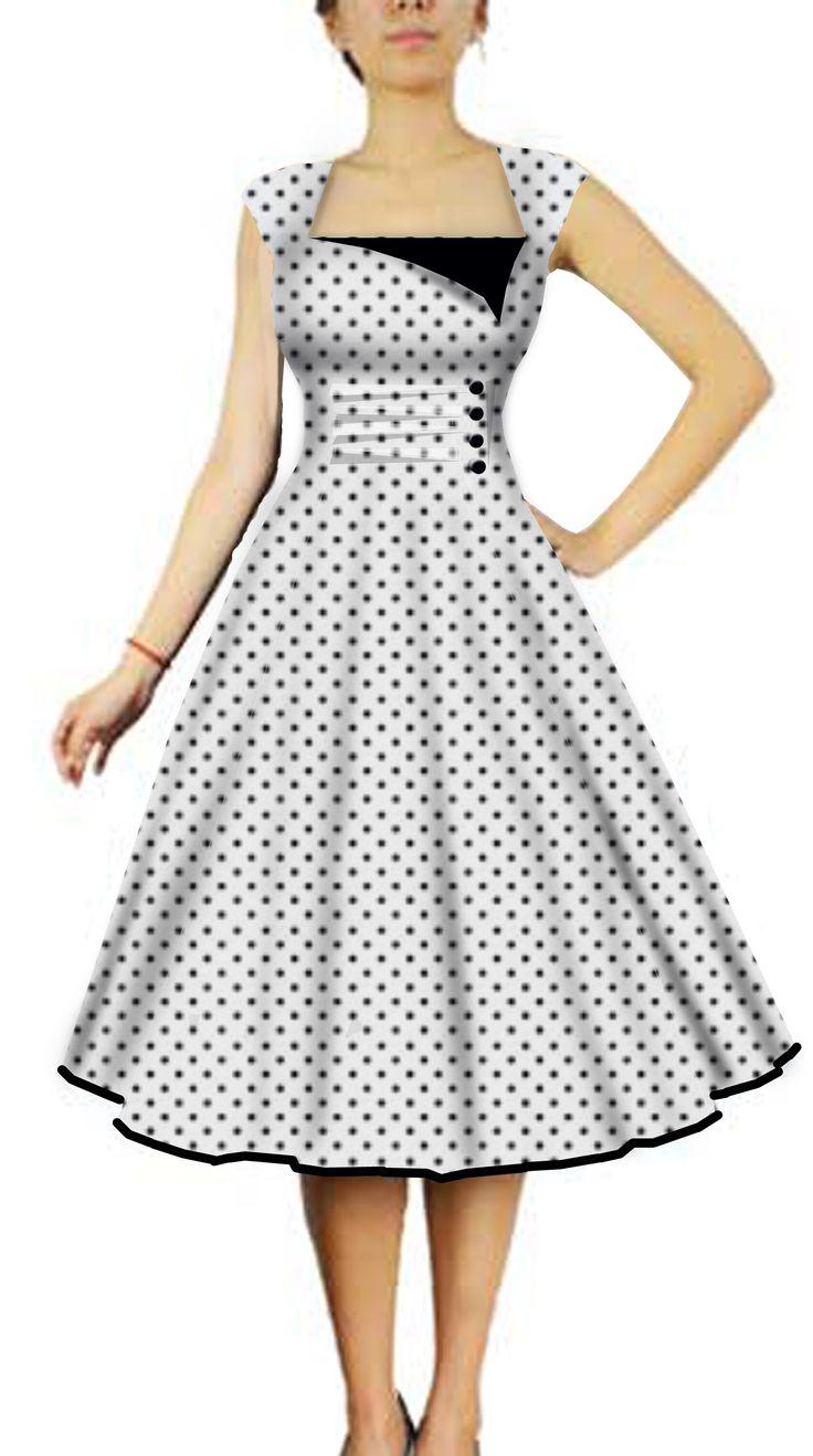 Rockabilly Dress. I love polka dots!