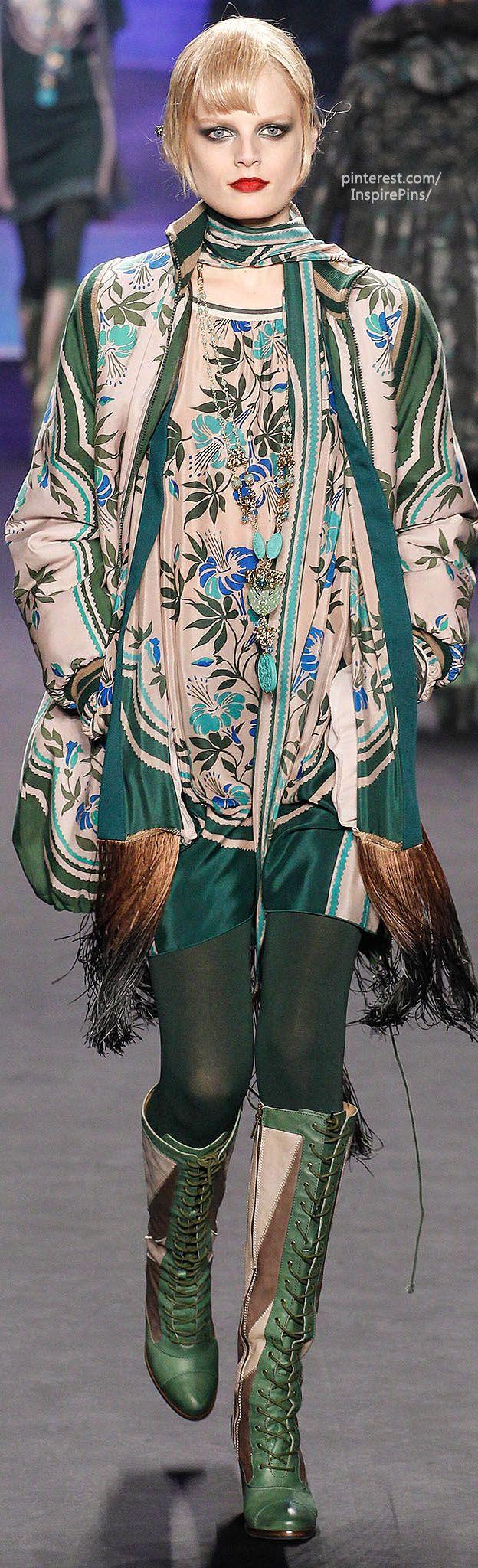 Fall 2014 Ready-to-Wear Anna Sui <3 #Fashion #Style #Moda