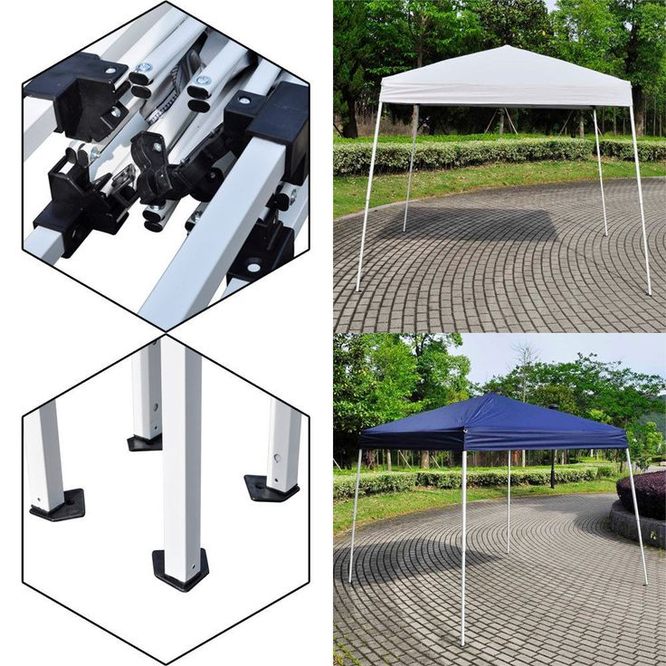 10' X 10'EZ POP UP Wedding Party Patio Tent Folding Gazebo Backyard Canopy Shade…