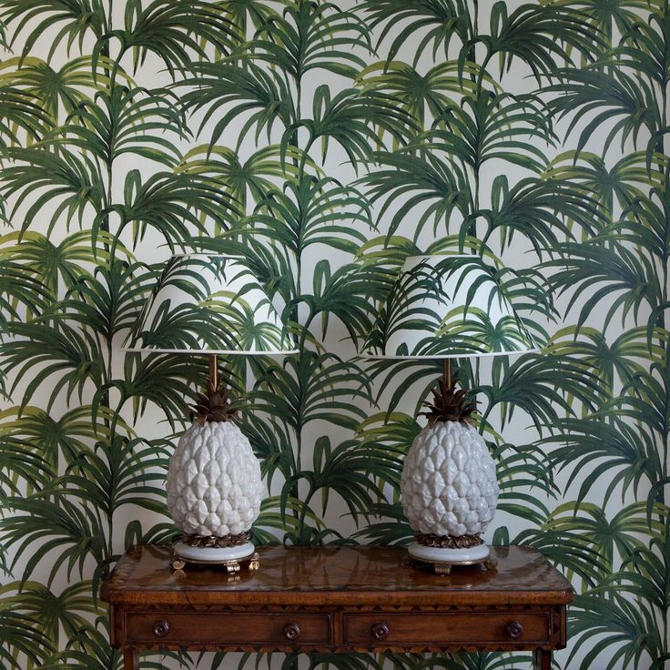 Palmeral Wallpaper in Off White and Green   165  houseofhackney com. 17 Best images about Sweet Interiors on Pinterest   Count  Upstate