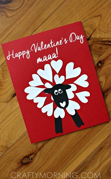 Heart Shaped Sheep Valentine Craft Idea - Crafty Morning
