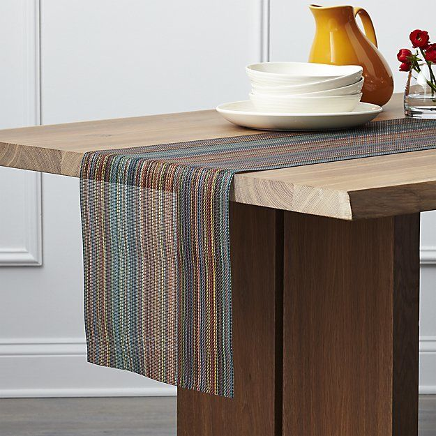 Crate & Barrel Chilewich ® Chroma Dark Striped Table Runner