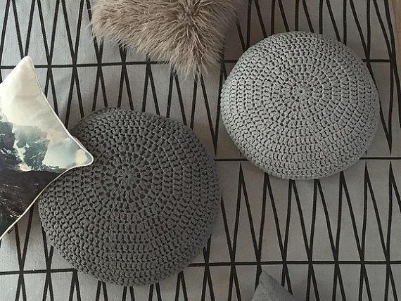 Crochet Round Floor Cushions Nursery Decor-Living by LoopingHome