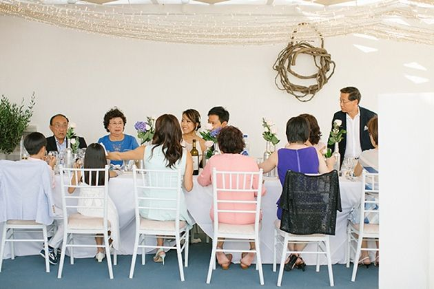 Intimate Wedding Venue Santorini | Santorini Wedding by Stella and Moscha - Exclusive Greek Island Weddings | Photo by Anna Roussos | www.stellaandmoscha.com