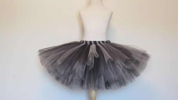 Adult Tutu Skirt Black Gray Silver Teen Oakland Raiders Cheerleader by American Blossoms on Etsy, $49.00