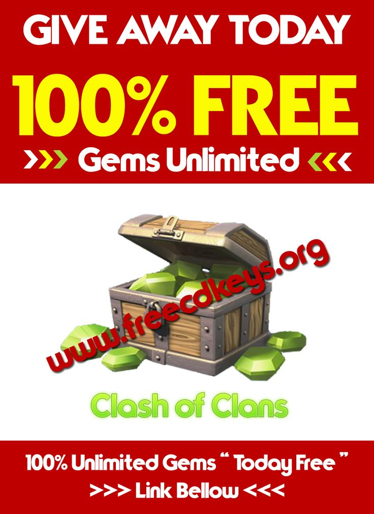 Give Away Today Unlimited Gems for Clash of Clans!!!  Link : https://www.freecdkeys.org/clash-of-clans-hack-free-gems-elixir-gold-android-ios/   #clashofclans #giveaway #giveaways #gems #unlimited #give #away #games