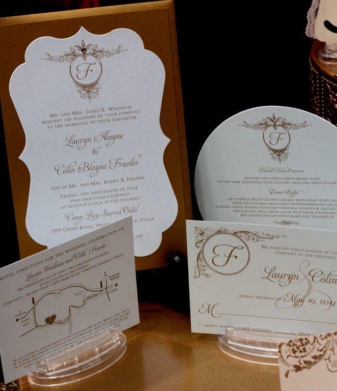 wedding invitations map%0A wedding invitation  soft blue  antique gold  menu  RSVP card  MAP card