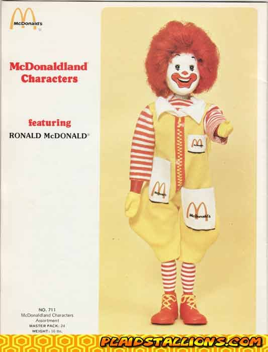 Ronald mcdonald by remco 1976