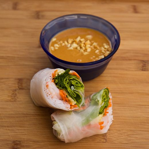 Vietnamese Summer Rolls. Make with shrimp or chicken. One of my ...
