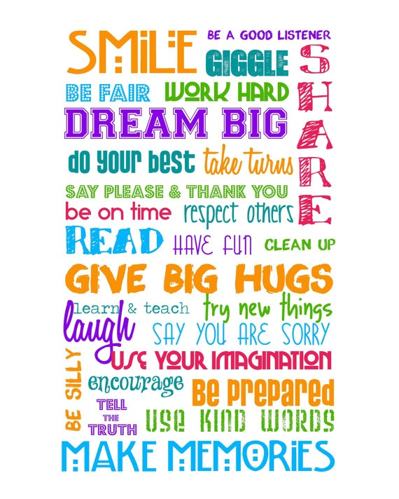 Classroom Rules Multi Color Bright 8x10 A by sweetleighmama, $12.00