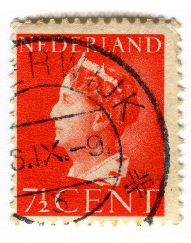 Netherlands Postage Stamp: Queen Wilhelmina Red. 1940