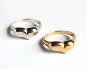 Valentine's Sale.15% off heart shape ring, 14k gold plated ring, silver sterling ring,size made to order ring.