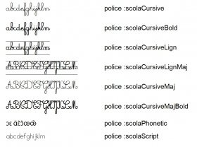 Librairie-Interactive - Polices d'écriture Scola (LaClasse)