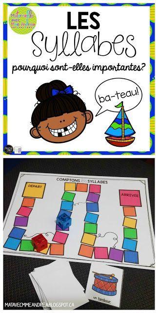 Maternelle avec Mme Andrea: Les syllabes - pourquoi sont-elles importantes? + jeu GRATUIT!