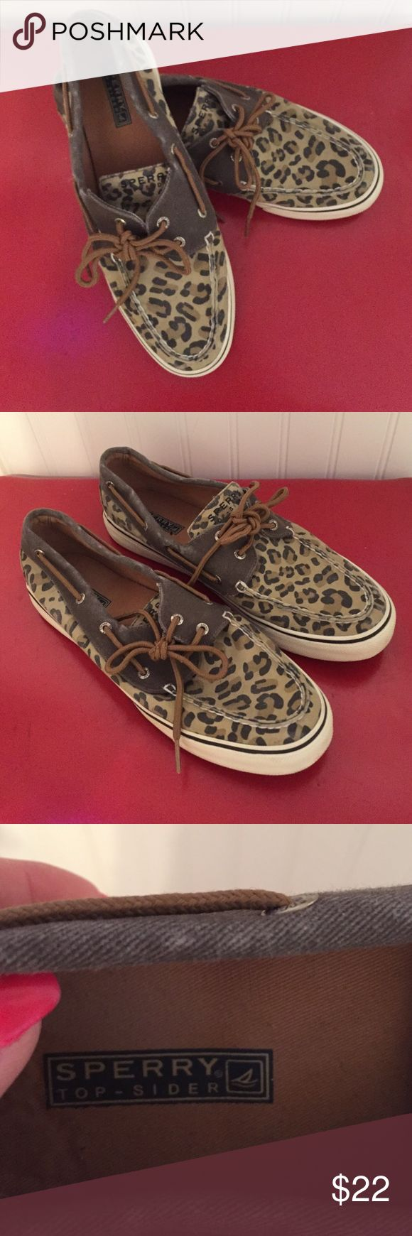 Sperry Top Sider Size 10 Sperry Top Sider Animal Print size 10 used however in great condition..please message me with any questions...God Bless Sperry Top-Sider Shoes Slippers