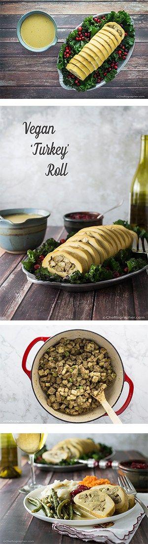 Vegan 'Turkey' Roll with GF Stuffing and the Best Vegan Gravy Ever!