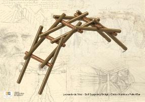 Brian Law's da Vinci model of a Self-Supporting Bridge