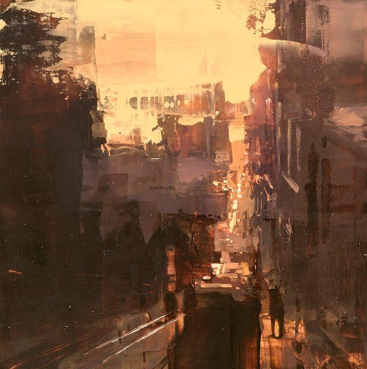 ぼんやり美しい。朧げに描かれる都市景観の油絵作品 (6)