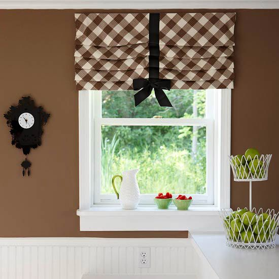 Easy Window Treatment Projects - Pleated Valance - kitchen Windows