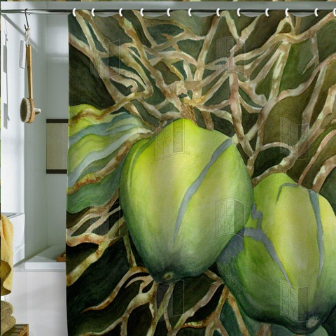 Coconuts Tropical Shower Curtain