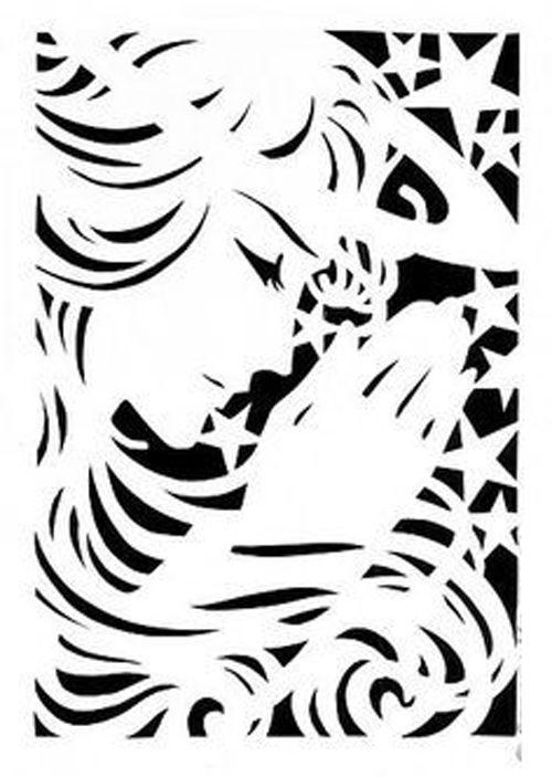 Angel Praying Logo Stock Photo
