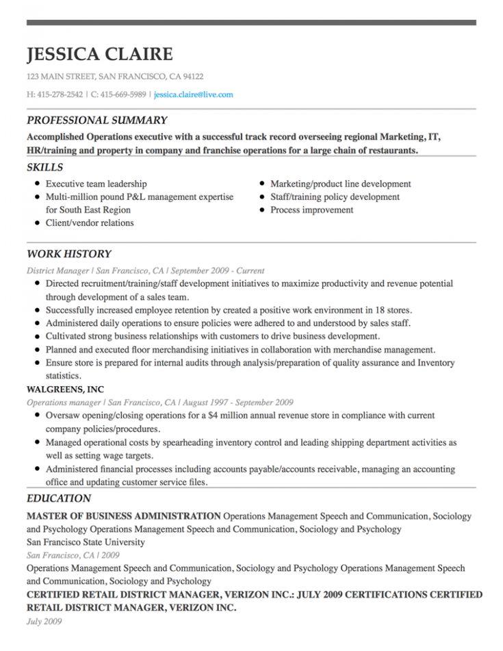 education based resume template