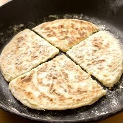The word farl originates from the Gaelic word fardel meaning four parts. These potato griddle breads can be made with leftover mashed potatoes too.  Serve hot with a little butter and salt, or fry them alongside soda bread as part of an Ulster Fry-up.
