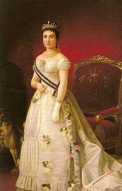 Queen María de las Mercedes de Orleans as Queen of Spain. Primera esposa de Alfonso XII