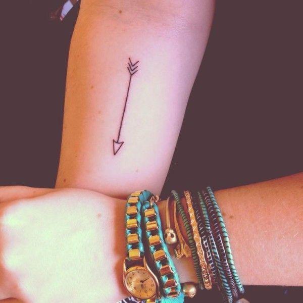 Abstract, arrow, tiny, arm tattoo on TattooChief.com