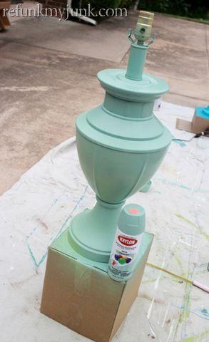Krylon spray paint in Catalina Mist - the perfect mint green!