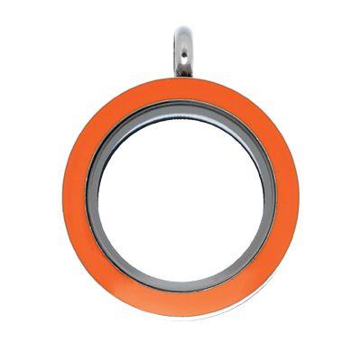 Orange Locket #LilyAnneDesigns #Locket #MissLilyCollection #LittleLady