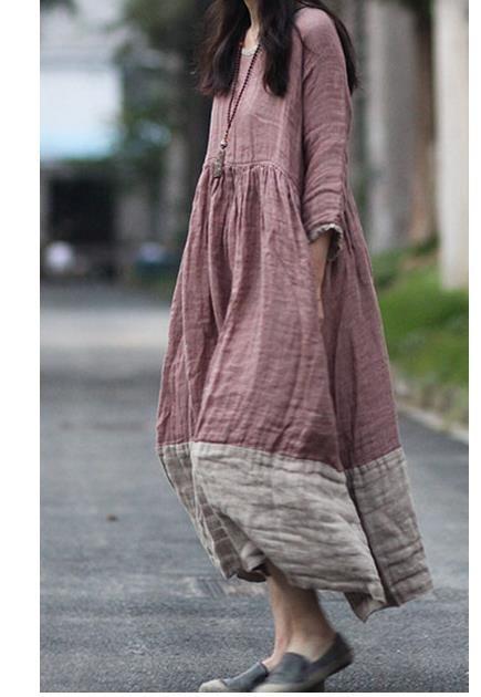 Color-blocked hem idea for Liesl + Co Cinema Dress