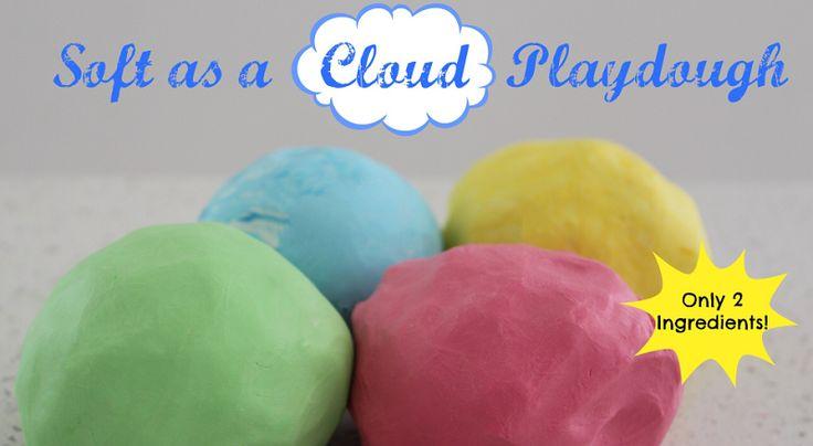 Recette de pâte à modeler douce comme un nuage avec seulement 2 ingrédients!!