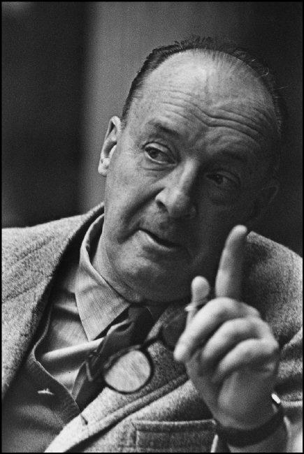 Vladimir Nabokov (1899-1977) - Russian novelist. Photo by Marc Riboud