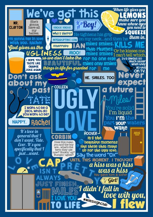 book collage based onUgly Loveby Colleen Hoover!